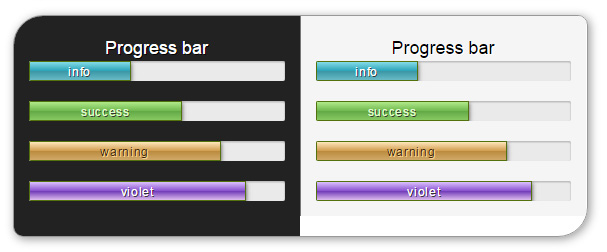 Delicious Bootstrap skin - progress bar