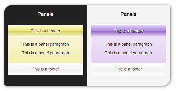 Delicious Bootstrap skin - panels
