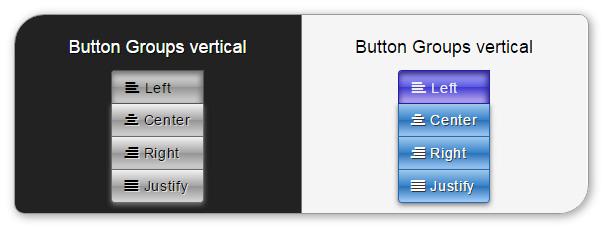 Delicious Bootstrap skin - button groups vertical