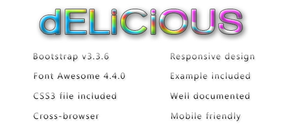 Scrumptious – the glassy gradient Bootstrap skin (Bootstrap)